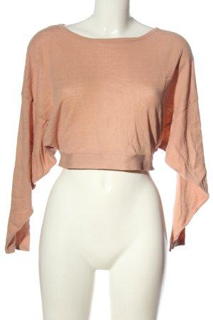 Zara Feinstrickpullover pink Casual-Look
