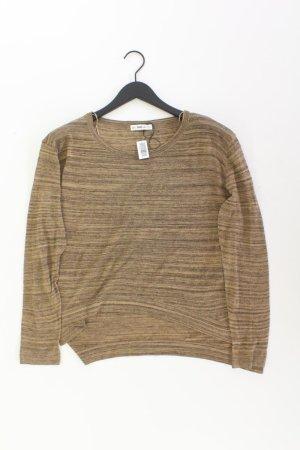 Zara Feinstrickpullover Größe L braun aus Polyester