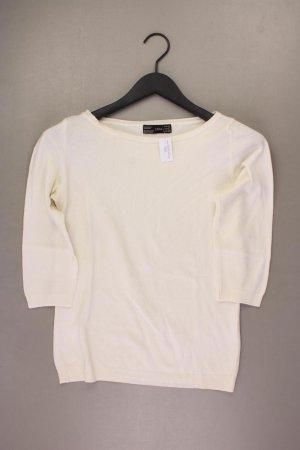 Zara Feinstrickpullover Größe L creme aus Polyacryl