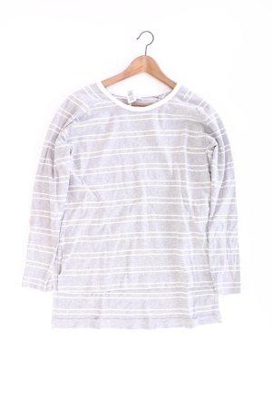 Zara Feinstrickpullover Größe L gestreift grau aus Baumwolle