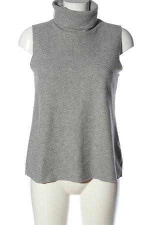 Zara Canotta all'uncinetto grigio chiaro puntinato stile casual