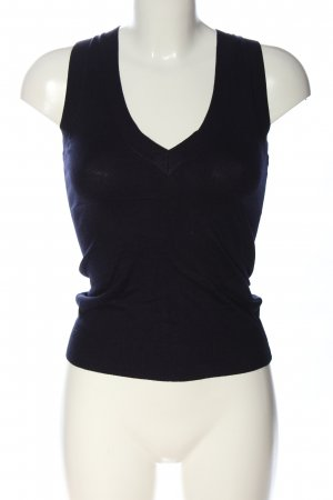 Zara Stricktop blau Casual-Look