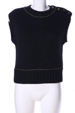 Zara Fijn gebreide cardigan zwart kabel steek zakelijke stijl