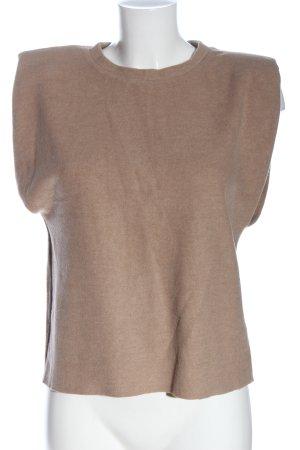 Zara Sweter bez rękawów z cienkiej dzianiny brązowy Melanżowy W stylu casual