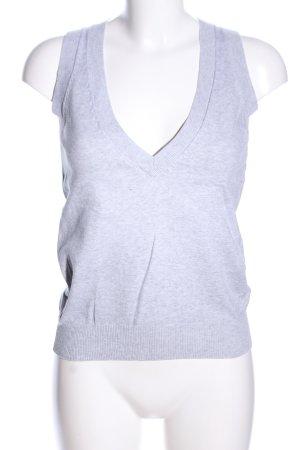 Zara Cárdigan de punto fino gris claro moteado look casual