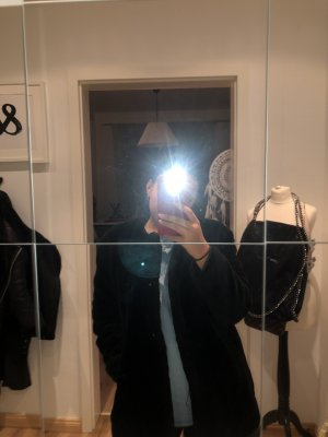 Zara Veste de fourrure noir