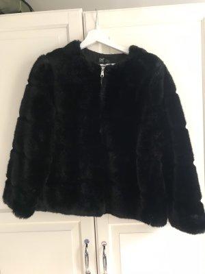 Zara Giacca in eco pelliccia nero