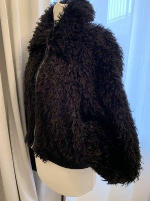 Zara Woman Fake Fur Jacket black