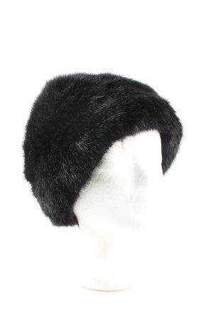 Zara Fur Hat black elegant