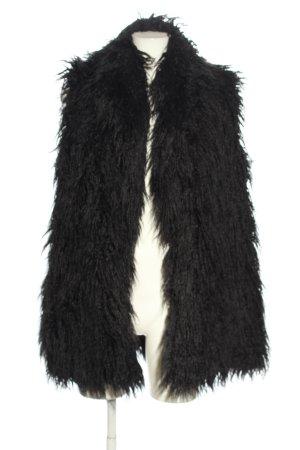Zara Gilet en fourrure noir style décontracté