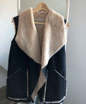 Zara Vest van imitatiebont lichtbruin