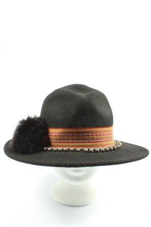 Zara Felt Hat striped pattern casual look