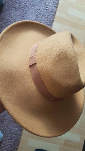 Zara Chapeau en feutre bronze