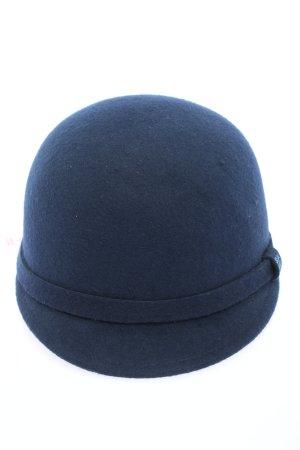 Zara Sombrero de fieltro azul look casual