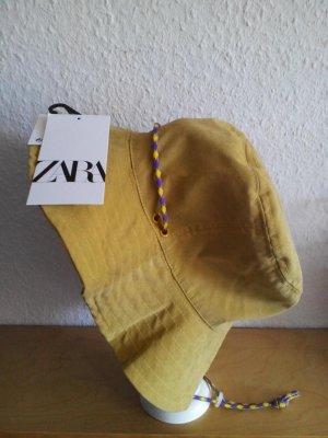 Zara Cappello da pescatore giallo pallido Tessuto misto
