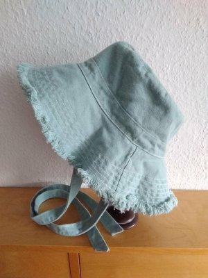 Zara Sun Hat lime-green cotton