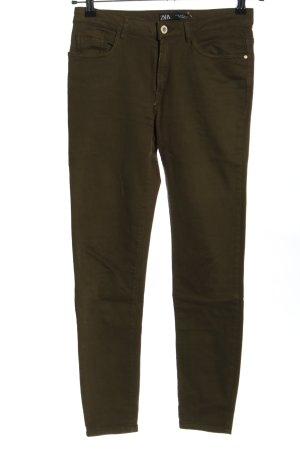 Zara Five-Pocket-Hose braun Casual-Look