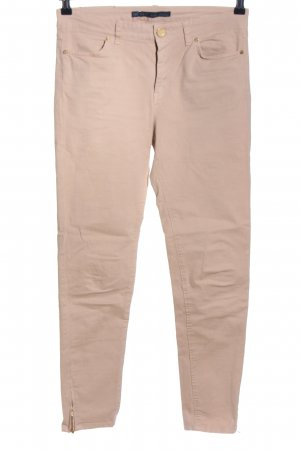 Zara Five-Pocket-Hose nude Casual-Look