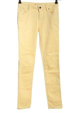 Zara Pantalon cinq poches crème style décontracté