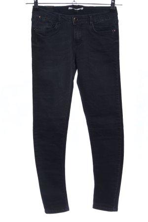 Zara Five-Pocket-Hose schwarz Casual-Look