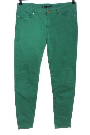 Zara Five-Pocket-Hose grün Casual-Look