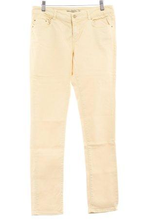 Zara Five-Pocket-Hose blassgelb Casual-Look
