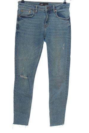 Zara Five-Pocket-Hose blau Casual-Look