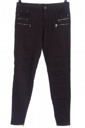 Zara Five-Pocket-Hose schwarz Casual-Look