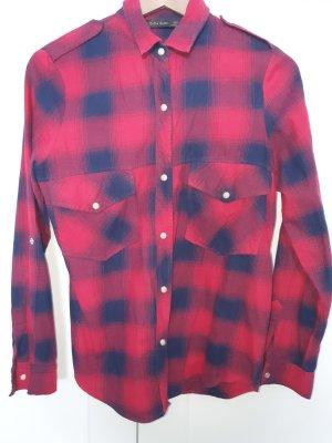 Zara Flannel Shirt red-blue