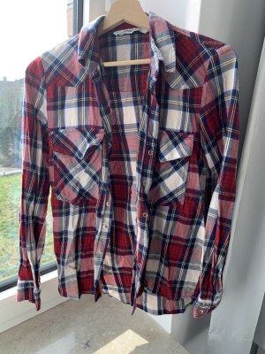 Zara Woman Camisa de franela multicolor