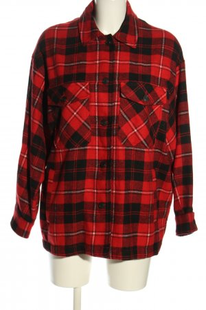 Zara Flannel Shirt red-black allover print casual look