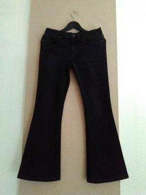 Zara Flare-Jeans in schwarz, Premium Collection, Grösse 38