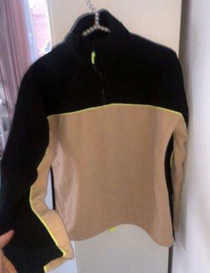 Zara Fleece Pullover mit Kragen