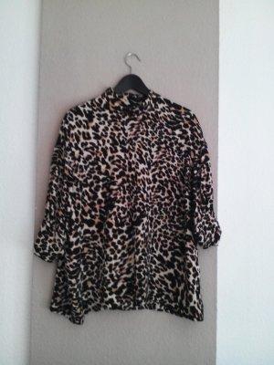Zara fließende Bluse mit Animalprint, Größe L neu