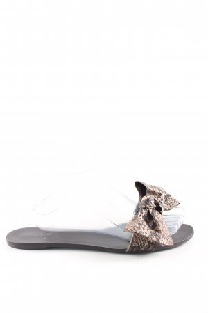 Zara Flip Flop Sandalen Animalmuster Casual-Look