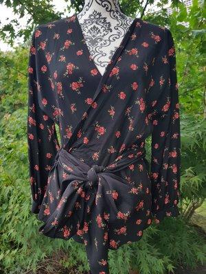 Zara Camicetta aderente nero-rosso