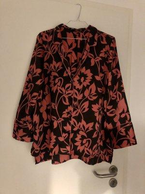 Zara Blusa ancha rojo frambuesa-negro