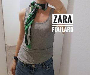 Zara Chal veraniego blanco-verde bosque