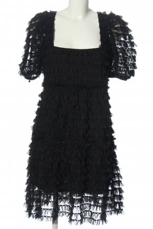 Zara Robe à franges noir élégant