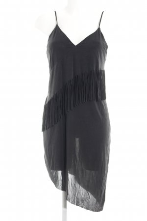 Zara Fringed Dress black elegant