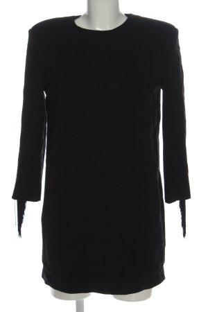 Zara Robe à franges noir style d'affaires