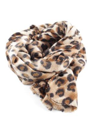 Zara Fransenschal Animalmuster Casual-Look
