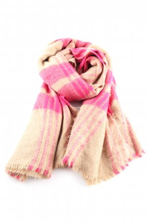Zara Fringed Scarf nude-pink allover print casual look