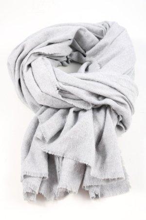 Zara Fransenschal hellgrau Casual-Look