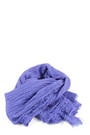 Zara Bufanda de flecos lila look casual