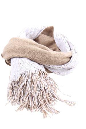 Zara Écharpe à franges blanc-blanc cassé torsades style décontracté