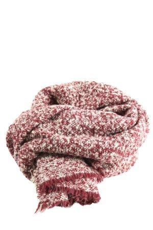 Zara Fransenschal rot-weiß meliert Casual-Look