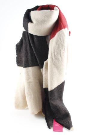 Zara Bufanda de flecos estampado a rayas look casual