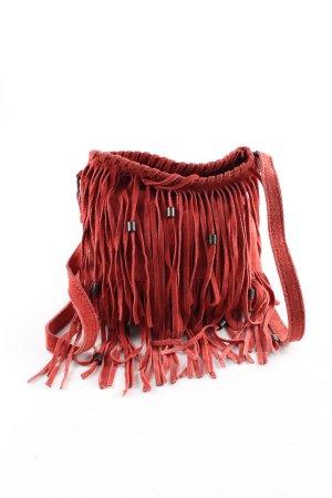 Zara Borsa con frange rosso stile casual
