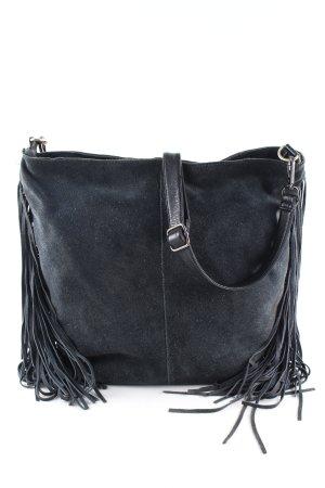 Zara Borsa con frange nero-blu stile casual